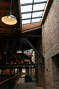 """A view of the skylight windows at the newly opened Garver Feed Mill event space during the """"Garver Gourmet"""" hosted by Sitka Salmon Shares in Madison, Wisconsin, Saturday, Sept. 7, 2019."""