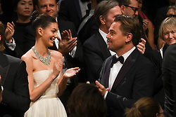 May 21, 2019 - Cannes, France - 72eme Festival International du Film de Cannes. Atmosphere fin de film ''Once upon a time ... in Hollywood''. 72th INternational Cannes Film festival. Atmosphere at the end of the screening.EXCLUSIVE ...239657 2019-05-21  Cannes France.. DiCaprio, Leonardo; Pitt, Brad; Morrone, Camila (Credit Image: © Serge Arnal/Starface via ZUMA Press)