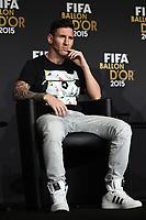 Zurich (Svizzera) 11/01/2016 - Fifa Ballon d'Or 2015 Pallone d'Oro / foto Matteo Gribaudi/Image Sport/Insidefoto<br />nella foto: Lionel Messi