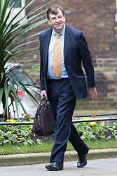 Downing Street, London, February 9th 2016.  Culture Secretary John Whittingdale arrives in Downing Street for the weekly cabinet meeting. ///FOR LICENCING CONTACT: paul@pauldaveycreative.co.uk TEL:+44 (0) 7966 016 296 or +44 (0) 20 8969 6875. ©2015 Paul R Davey. All rights reserved.