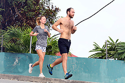 St.Barts,31th December 2019<br /> James Matthews Junior and fiancee Alizee Thevenet jogging around in the early morning in St Barts<br /> ABACAPRESS.COM James Middleton goes for a jog