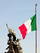 Sculpture at the Monument to Vittoria, Rome, Italy