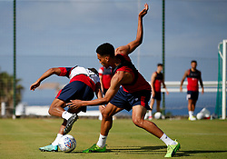 Zak Vyner of Bristol City tackles Bobby Reid - Mandatory by-line: Matt McNulty/JMP - 20/07/2017 - FOOTBALL - Tenerife Top Training Centre - Costa Adeje, Tenerife - Pre-Season Training