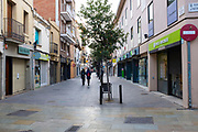 Empty streets in Sant Cugat del Valles, a normally bustling city of some 90,000 people outside Barcelona, on the day before Spain exerted a state of Emergency to deal with the spread Coronavirus. Spain is one of the worst affected countries. Schools and retail businesses are closed, except for supermarkets and pharmacies.