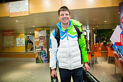 Janez Maric at reception of Slovenia team arrived from Winter Olympic Games Sochi 2014 on February 25, 2014 at Airport Joze Pucnik, Brnik, Slovenia. Photo by Vid Ponikvar / Sportida