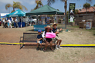 A family visits the fair.