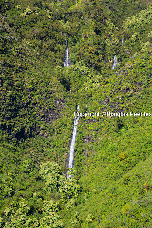 Waterfall, Kauai, aerial