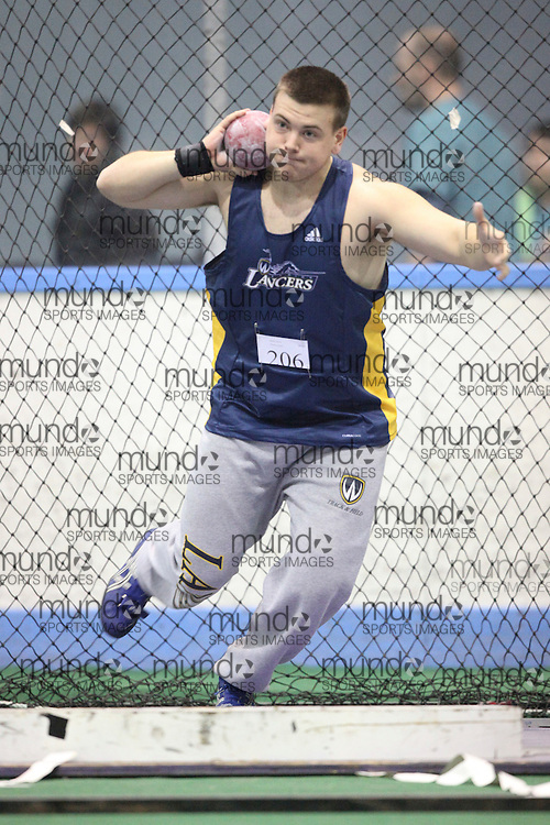 London, Ontario ---11-01-22---   Steven Shearer of the Windsor Lancers competes at the 2011 Don Wright meet at the University of Western Ontario, January 22, 2011..GEOFF ROBINS/Mundo Sport Images.