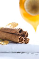 Cinnamon Sticks and Gold Christmas Bauble