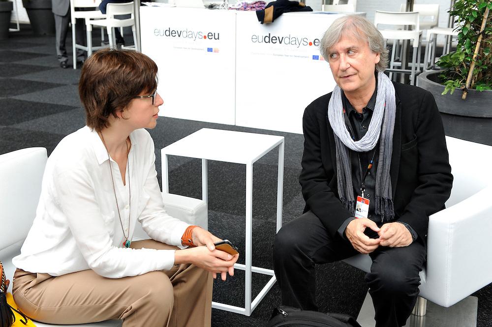 20150603- Brussels - Belgium - 03 June2015 - European Development Days - EDD  -  Mogherini and Plantu © EU/UE
