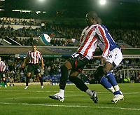 Photo: Steve Bond.<br />Birmingham City v Sunderland. The FA Barclays Premiership. 15/08/2007. Stern John in one final Sunderland attack