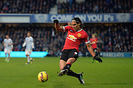Radamel Falcao of Manchester United in action. Barclays Premier league match, Queens Park Rangers v Manchester Utd at Loftus Road in London on Saturday 17th Jan 2015. pic by John Patrick Fletcher, Andrew Orchard sports photography.