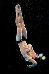 Freddie Woodward of Great Britain in action during the Mens 1m Springboard Final - Mandatory byline: Rogan Thomson/JMP - 10/05/2016 - DIVING - London Aquatics Centre - Stratford, London, England - LEN European Aquatics Championships 2016 Day 2.