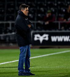 2nd November, Liberty Stadium , Swansea, Wales ; Guinness pro 14's Ospreys Rugby v Glasgow Warriors ;  Head Coach Allen Clarke of Ospreys during the pre match warm up<br /> <br /> Credit: Simon King/News Images<br /> <br /> Photographer Simon King/Replay Images<br /> <br /> Guinness PRO14 Round 8 - Ospreys v Glasgow Warriors - Friday 2nd November 2018 - Liberty Stadium - Swansea<br /> <br /> World Copyright © Replay Images . All rights reserved. info@replayimages.co.uk - http://replayimages.co.uk