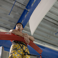 Lifeguard Daniel De Mol, 18, stays alert from the lifeguard chair during the Relay for Life swim night event at the Gallup Aquatic Center in Gallup Friday.