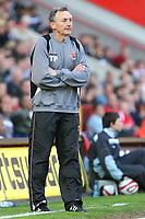 Blackpool Caretaker Manager Tony Parkes<br /> Charlton Athletic vs Blackpool at The Valley, Charlton.<br /> Coca Cola Championship. 18/04/2009<br /> Credit Colorsport / Shaun Boggust