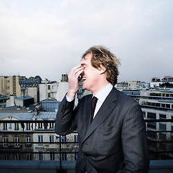 Didier Le Menestrel is the  President of the Financiere de l'Echiquier of which he's the founder. Shot on the roof of his office in Paris, France. 10 February 2010. Photo: Antoine Doyen for Netto / mon argent