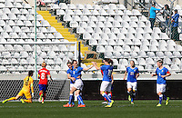 Fifa Womans World Cup Canada 2015 - Preview //<br /> Cyprus Cup 2015 Tournament ( Gsp Stadium Nicosia - Cyprus ) - <br /> South Korea vs Italy 1-2 , Barbara Bonansea of Italy (18-Middle) , celebrates with team mates <br /> after is goal (0-1) , during the match between South Korea and  Italy