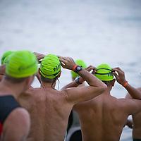 Start of swim portion of Honolulu Triathalon