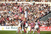 Hugh Pyle / Julien Ledevedec  - 07.03.2015 -  Begles Bordeaux / Stade Francais -  19eme journee de Top 14<br />Photo : Manuel Blondeau / Icon Sport