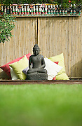 Buddah on outdoor meditation platform