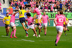 April 7, 2018 - Paris, France - Stade Francais scrum half CLEMENT DAGUIN in action during the French rugby championship Top 14 match between Stade Francais and Clermont at Jean Bouin Stadium in Paris - France..Stade Francais won 50-13 (Credit Image: © Pierre Stevenin via ZUMA Wire)