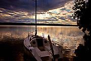 Wdzydze Kiszewskie, 2011-07-03. Zachód słońca nad Jeziorem Wdzydze