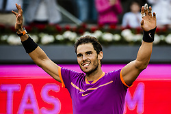 May 14, 2017 - Madrid, Madrid, Spain - RAFAEL NADAL (ESP) celebrates his victory against Dominic Thiem (AUT) in the final of the 'Mutua Madrid Open' 2017. Nadal won 7:6, 6:4 (Credit Image: © Matthias Oesterle via ZUMA Wire)