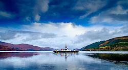 The Corran Car ferry in Loch Linnhe Highlands of Scotland<br /> <br /> (c) Andrew Wilson | Edinburgh Elite media