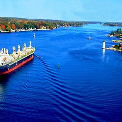 Aerial Photograph Tanker in Lake Ontario