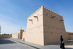 Exterior view of new museum at reconstructed fort at Qasr Al Muwaiji (birthplace of Sheikh Khalifa bin Zayed Al Nahyan) in Al Ain United Arab Emirates UAE