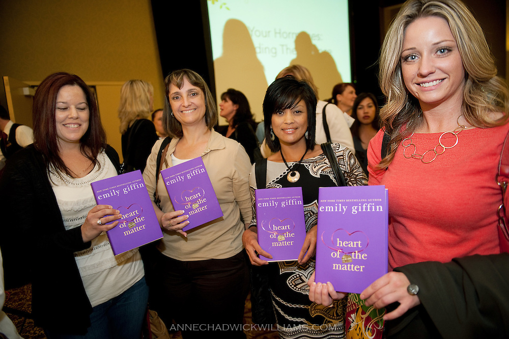 """Bestselling author Emily Giffin speaks to an audience about her new book, """"Heart of the Matter"""" in at the Sheraton in Sacramento, CA."""