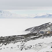 Cosray building, housing the longest running experiment at McMurdo, since 1960.