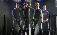 New Kids on the Block performs at the Sommet Center in Nashville, Tennessee on Friday, October 31, 2008. (Photo by Frederick Breedon) Photo © Frederick Breedon. All rights reserved. Unauthorized duplication prohibited.