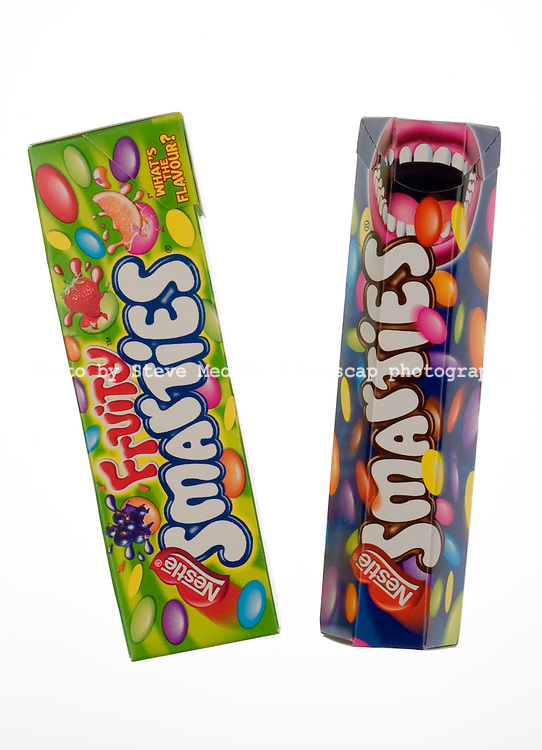 Packets of Fruity and Original Smarties