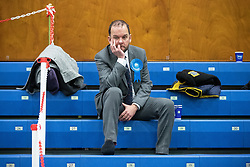 © Licensed to London News Pictures . 13/12/2019. Bury, UK. JAMES DALY Conservative Party Candidate for Bury North at the count for seats in the constituencies of Bury North and Bury South in the 2019 UK General Election , at Castle Leisure Centre in Bury . Photo credit: Joel Goodman/LNP