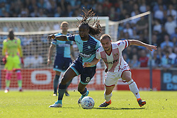 Marcus Bean of Wycombe Wanderers under pressure from Dylan O'Donnell of Stevenage - Mandatory by-line: Jason Brown/JMP - 05/05/2018 - FOOTBALL - Adam's Park - High Wycombe, England - Wycombe Wanderers v Stevenage - Sky Bet League Two