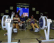2004_British_Indoor_Rowing_Championships.NIA. Birmingham.England. 21.11.2004.WBUSA Hwt Debbie Flood [right] Leander Club and Reading University.  Laura Wheeler  [Burton Leander].[Mandatory Credit Peter Spurrier/ Intersport Images]