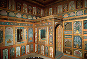 TURKEY, ISTANBUL Topkapi Palace; in the Harem; the Fruit Room of Ahmet III, with paintings to entice the Sultan to eat