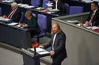DEU, Deutschland, Germany, Berlin, 26.11.2014: Der Vorsitzende der Bundestagsfraktion von Bündnis 90/Die Grünen, Anton Hofreiter, während seiner Rede anlässlich der Generalaussprache zur Regierungspolitik im Deutschen Bundestag.