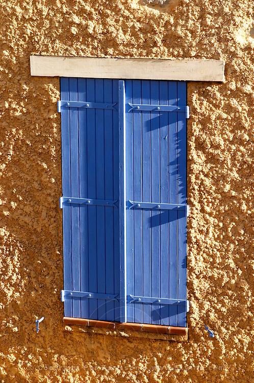 Gruissan village. La Clape. Languedoc. Window. France. Europe.
