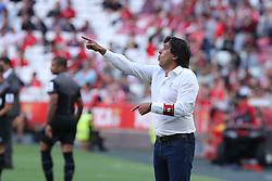 April 14, 2017 - Lisbon, Lisbon, Portugal - Maritimo's coach Daniel Ramos from Portugal during the Premier League 2016/17 match between SL Benfica v Maritimo M., at Luz Stadium in Lisbon on April 14, 2017. (Credit Image: © Dpi/NurPhoto via ZUMA Press)