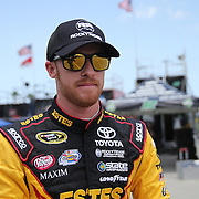 Sprint Cup Series driver Jeb Burton (26) is seen on pit row during the 57th Annual NASCAR Coke Zero 400 race first practice session at Daytona International Speedway on Friday, July 3, 2015 in Daytona Beach, Florida.  (AP Photo/Alex Menendez)