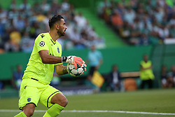 August 15, 2017 - Lisbon, Portugal - Sporting's goalkeeper Rui Patricio from Portugal in action during the UEFA Champions League play-offs first leg football match between Sporting CP and FC Steaua Bucuresti at the Alvalade stadium in Lisbon, Portugal on August 15, 2017. Photo: Pedro Fiuza (Credit Image: © Pedro Fiuza via ZUMA Wire)