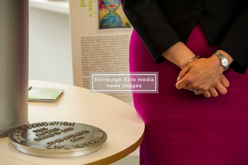 Pictured: <br /> <br /> The First Minister Nicola Sturgeon, MSP, joined people supported by the Thistle Foundation to bury a time capsule to mark the opening of a new health and social care centre. <br /> Ger Harley   EEm 14 June 2016