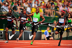 04.06.2011, Eugene, USA, Prefontaine Classic Track Meet, im Bild Steve Mullings (JAM) placed first in the men's 100m run with a time of 9.80 at the Prefontaine Classic at Hayward Field in Eugene, Oregon..June 4, 2011. EXPA Pictures © 2011, PhotoCredit: EXPA/ New Sport Photo +++++ ATTENTION - OUT OF USA  +++++