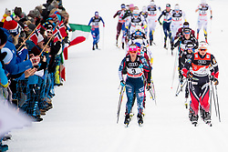 January 6, 2018 - Val Di Fiemme, ITALY - 180106 Jessica Diggins of the United States and Ingvild Flugstad ¯stberg of Norway compete in women's 10km mass start classic technique during Tour de Ski on January 6, 2018 in Val di Fiemme..Photo: Jon Olav Nesvold / BILDBYRN / kod JE / 160122 (Credit Image: © Jon Olav Nesvold/Bildbyran via ZUMA Wire)