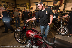 Zach Johnson at a Bling's Cycle / Bill Dodge party during Daytona Beach Bike Week, FL, USA. Wednesday, March 11, 2015. Photography ©2015 Michael Lichter.