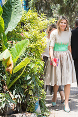 Queen Maxima of the Netherlands visits a coffeeshop of HelloCash - 15 May 2019