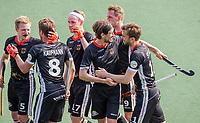 AMSTELVEEN Duitsland juicht, na het doelpunt van Constantin Staib (Dui)  tijdens de wedstrijd heren, Duitsland-Wales (8-1) bij het  EK hockey . COPYRIGHT KOEN SUYK